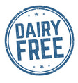 dairy free sign or stamp vector image vector image