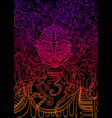 demon witch colorful gradient outline surreal vector image