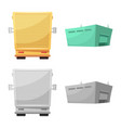 design of goods and cargo sign set of vector image vector image