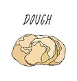 dough pastry kitchen collection eps10 vector image