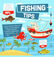 fishery and fishing from boat vector image