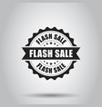 flash sale grunge rubber stamp on white vector image vector image