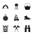 Forest icons set simple style vector image vector image