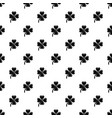 four leaf clover pattern seamless vector image