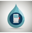 gasoline dispenser isolated icon design vector image vector image