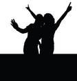 girl party silhouette vector image vector image