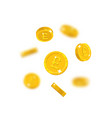 gold pounds flying cartoon isolated vector image vector image