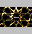 golden arabic pattern 3d vector image