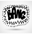 grunge comics label tag expression sounds vector image