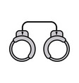 handcuffs flat icon sign symbol vector image