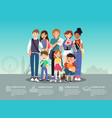 international students group infographic flat vector image
