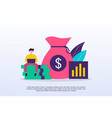 investment concept with tiny people can use for vector image
