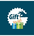 logo box with gifts vector image vector image