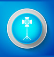 movie spotlight icon isolated on blue background vector image vector image