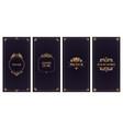 ornate damask cards golden frame wedding card or vector image