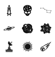 Outer space icons set simple style vector image vector image