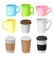 paper take away coffee cup packaging template vector image