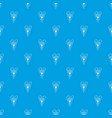 pennant soccer pattern seamless blue vector image