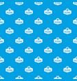 pizza italian pattern seamless blue vector image vector image