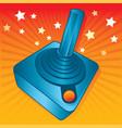 retro style games joystick vector image