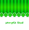 saint patrick day background with green clovers vector image vector image