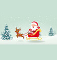 santa with christmas sled vector image