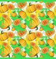 seamless pattern pumpkin vegetables ornament vector image vector image
