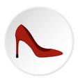 shoe icon circle vector image vector image