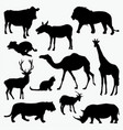 silhouettes of animals 2 vector image vector image