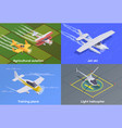 small air transport 2x2 concept vector image vector image