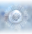 snow globe with zodiac sign Gemini vector image vector image