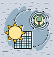 solar energy with tree symbol conservation vector image vector image