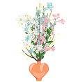 Spring Flowers in a Vase vector image