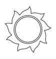 sun silhouette symbol icon design vector image