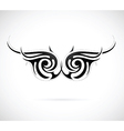 Tribal wing tattoo vector image