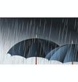umbrellas in the rain vector image