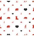 walking icons pattern seamless white background vector image vector image