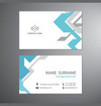 white business cards set technology template vector image vector image