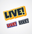 live theme sign vector image