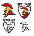 Set of emblems with Spartan helmet Design vector image