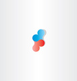blue red heart logo sign design vector image