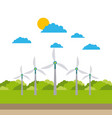 alternative sources of energy green energy vector image