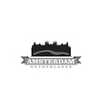 Amsterdam Netherlands city symbol vector image vector image