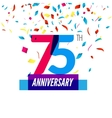 Anniversary design 75th icon anniversary vector image