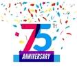 anniversary design 75th icon