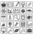 Basic Education Icons Set vector image vector image