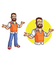 Bearded Geek Mascot vector image
