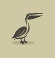 billed stork vector image vector image