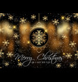 christmas background with golden snowflakes vector image vector image