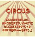 circus vintage 3d alphabet set vector image